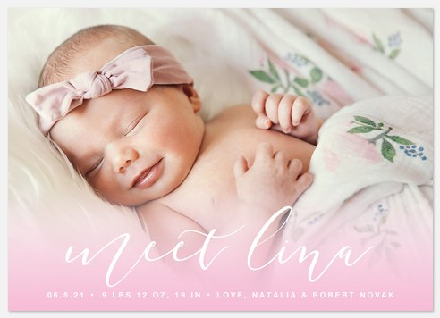 Sweet Pea Baby Birth Announcements
