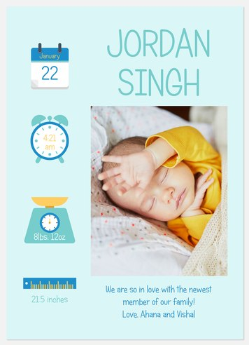 Icon Stats Baby Birth Announcements