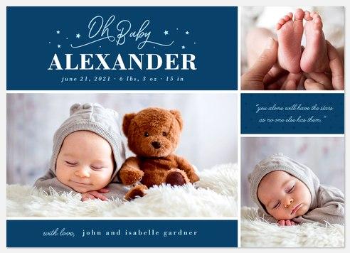 Brightest Star Baby Birth Announcements