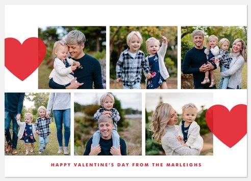Full Hearts Valentine Photo Cards