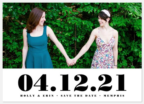 Modernist Save the Date Photo Cards