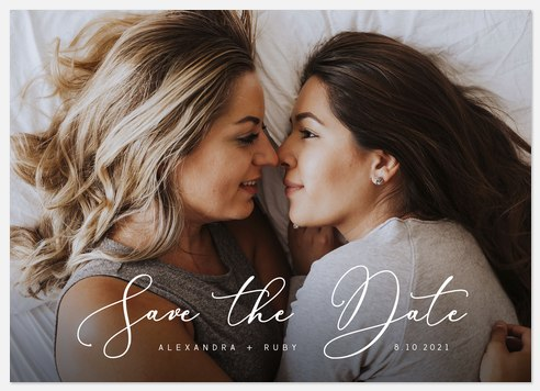 Fresh Penmanship Save the Date Photo Cards
