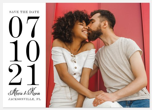 Stacked Serif Save the Date Photo Cards