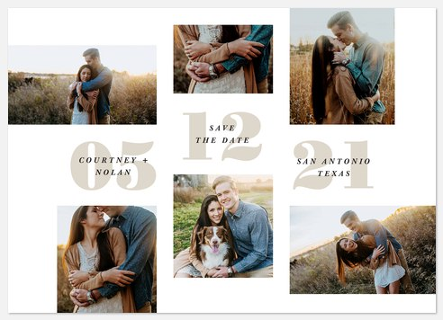 Bold Collage Save the Date Photo Cards