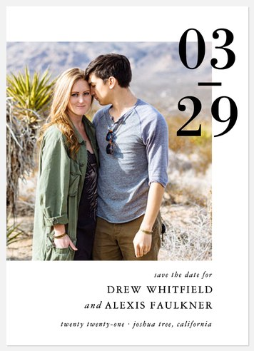 Cherished Date Save the Date Photo Cards