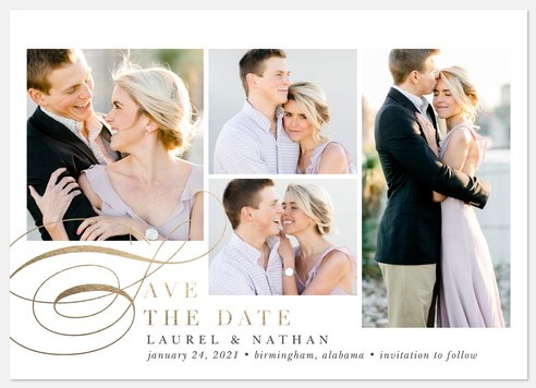 City Waltz Save the Date Photo Cards