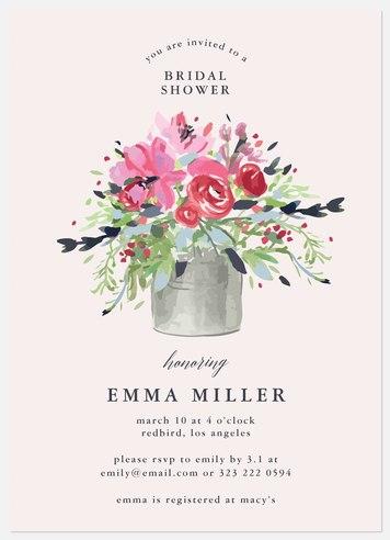 Flower Pot Bridal Shower Invitations