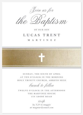 Formal Tradition Baptism Christening Invitations