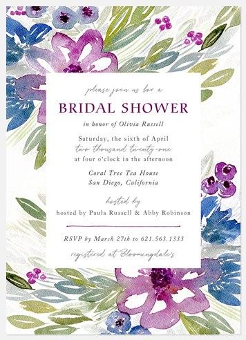 Summer Blooms Bridal Shower Invitations