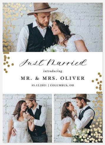 Enchanted Confetti Wedding Announcements