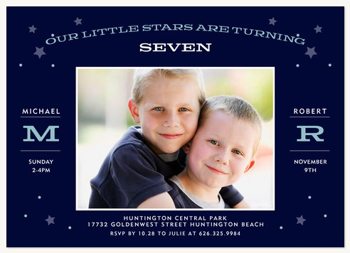 Little Dreamers Kids Birthday Invitations