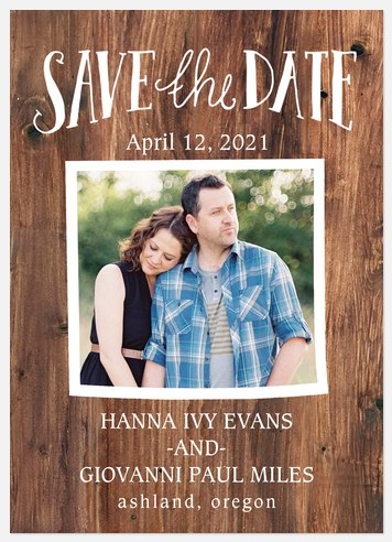 Rustic Frame Save the Date Photo Cards