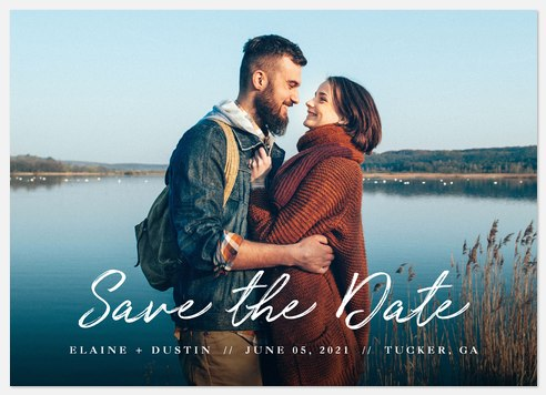 Signature Look Save the Date Photo Cards