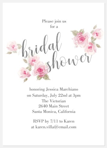 Flower Shower Bridal Shower Invitations