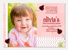 1st birthday invitations photoaffections ladybug girl birthday invitations stopboris Image collections