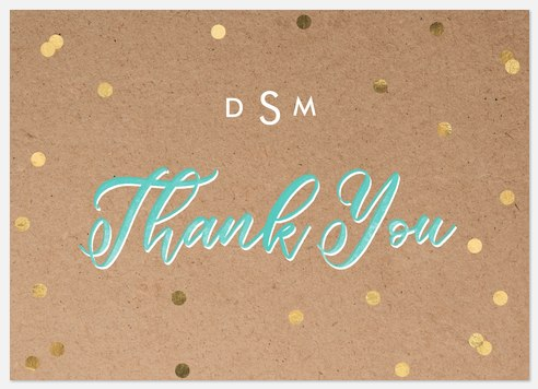 Pop Confetti Thank You Cards