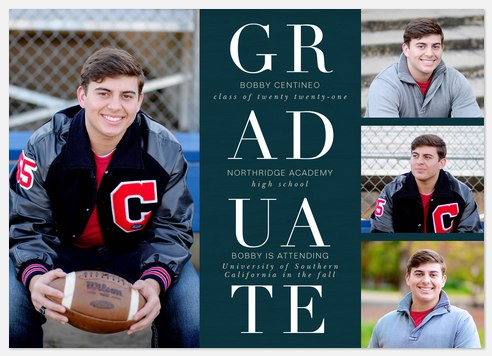Stacked Tradition Graduation Cards