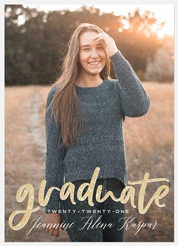 Sparkle Overlay Graduation Cards