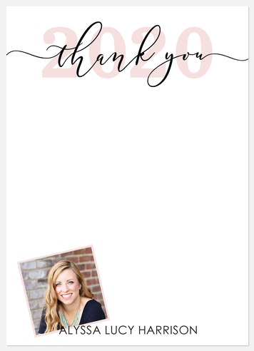 Peony Graduate Thank You Cards
