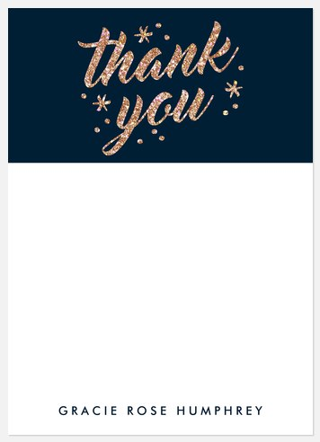 Sparkling Glitter Thank You Cards