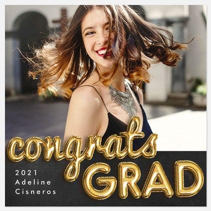 Congrats Balloons Graduation Cards
