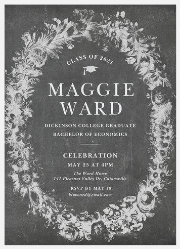 Chalkboard Wreath Graduation Cards
