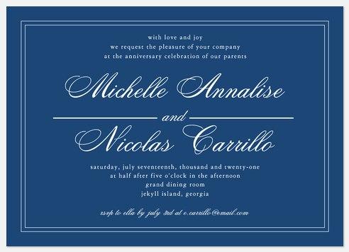 Royal Invite Anniversary Invitations