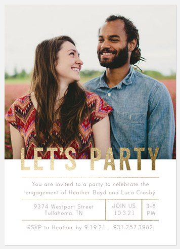 Soho Grid Engagement Party Invitations