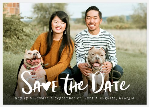 Sweetheart Save the Date Photo Cards