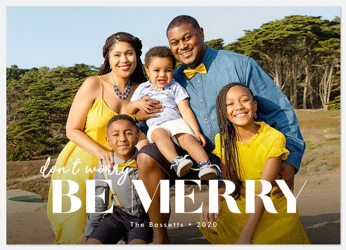 Unique Greeting Holiday Photo Cards