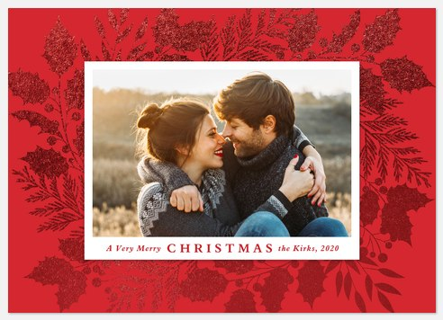 Glittering Merriment Holiday Photo Cards