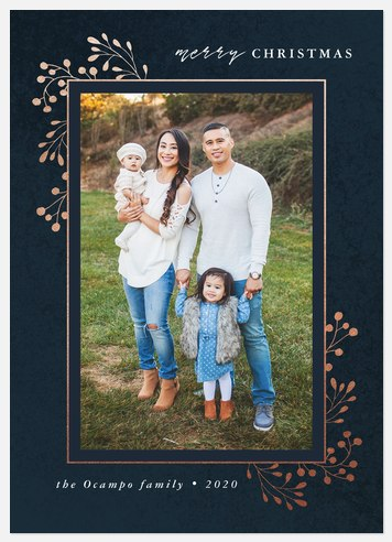Rose Gilding Holiday Photo Cards