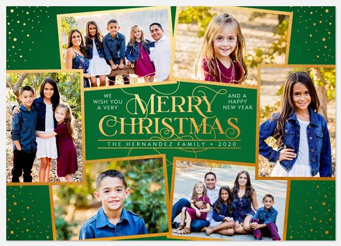 Elegant Swash Holiday Photo Cards