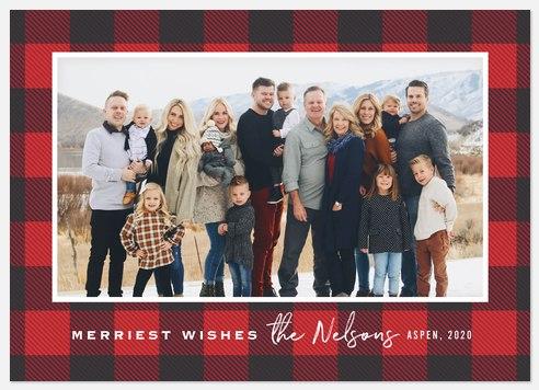 Buffalo Plaid Holiday Photo Cards