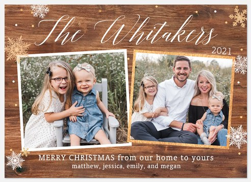 Rustic Collage Holiday Photo Cards