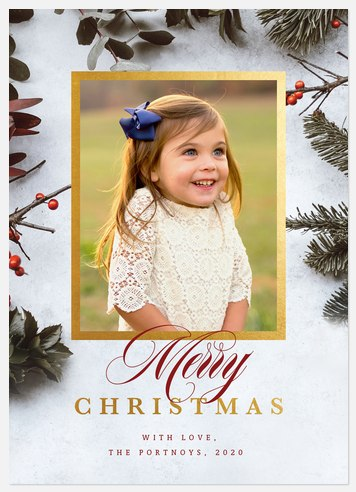 Foraged Frame Holiday Photo Cards