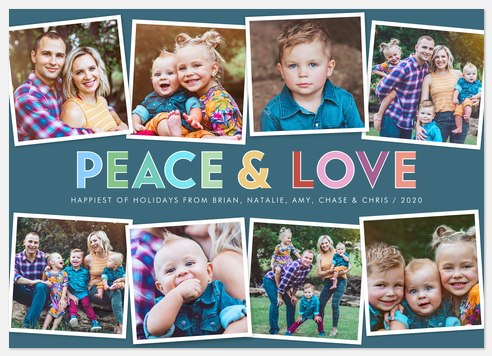 Multicolor Love Holiday Photo Cards