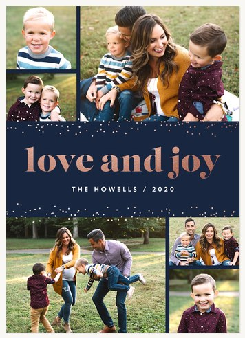 Sparkling Love Personalized Holiday Cards