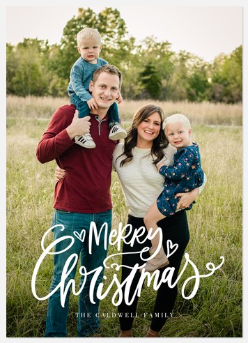 Cute Script Holiday Photo Cards