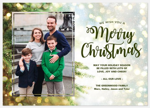 Magic of the Season Holiday Photo Cards