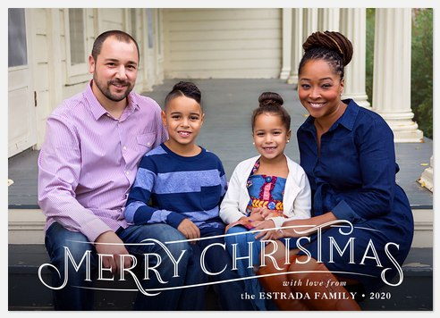 Engraved Banner Holiday Photo Cards