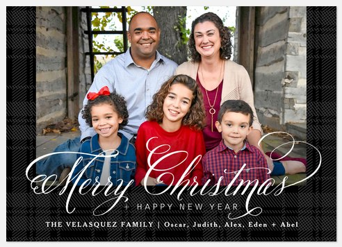Classically Plaid Holiday Photo Cards
