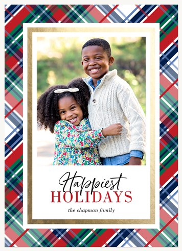 Festive Prep Personalized Holiday Cards