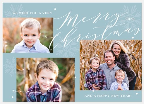 Winter Collage Holiday Photo Cards