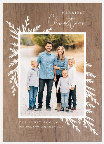 Frosted Boho Holiday Photo Cards