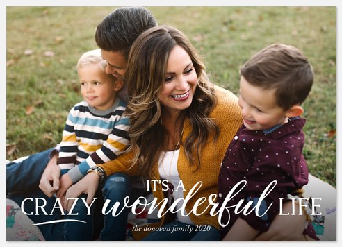 Crazy Wonderful Holiday Photo Cards