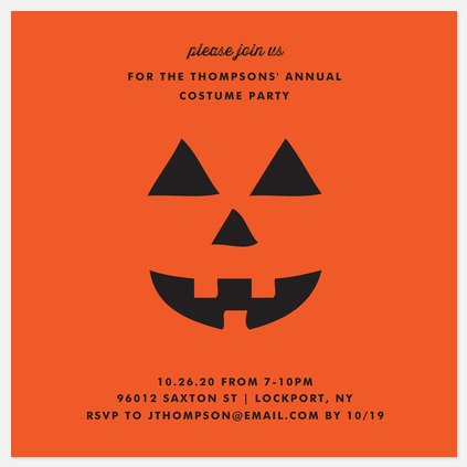 Jack-o-Lantern Halloween Photo Cards