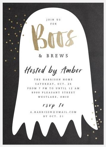 Boos & Brews Halloween Photo Cards
