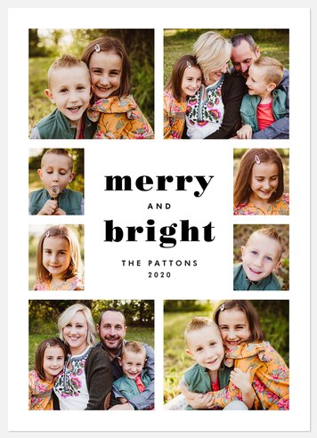Mod Minimalist Holiday Photo Cards
