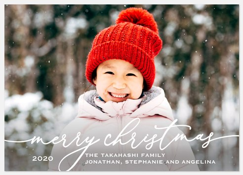 Whimsy Type Holiday Photo Cards